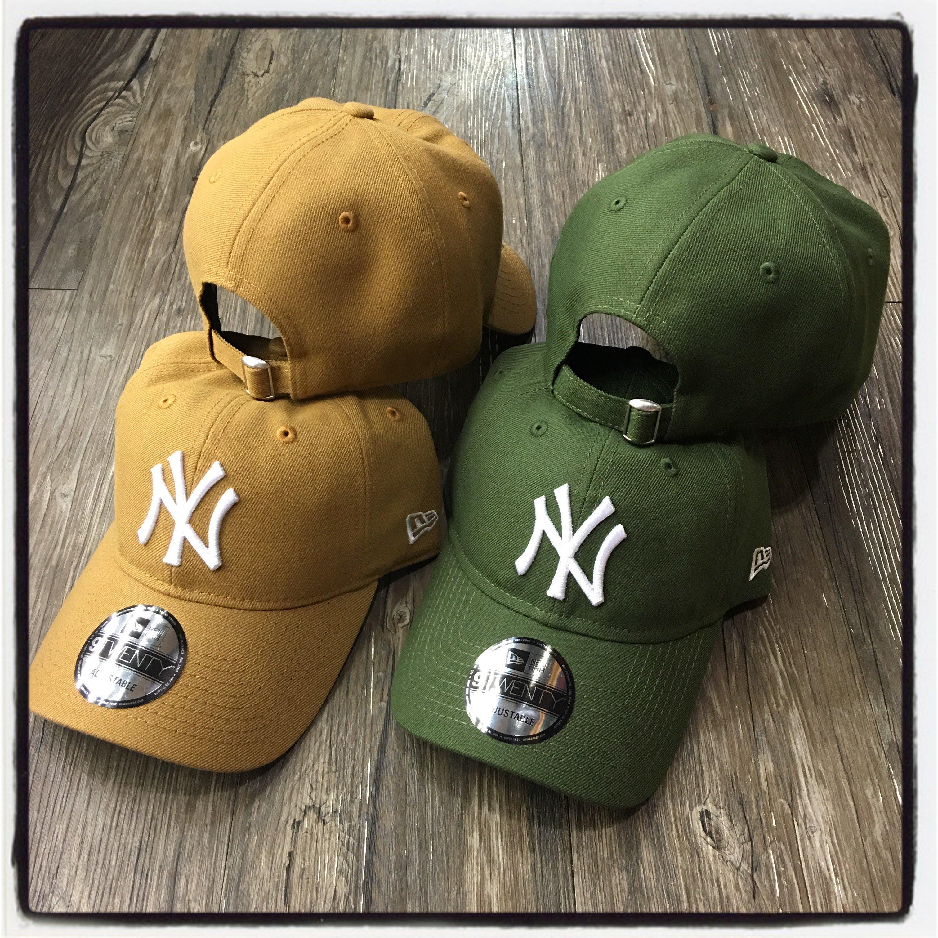 【Dangerous】NEW ERA MLB 紐約洋基 NY 卡其/墨綠 9TWENTY 彎帽 老帽 日字扣 獨家 駝色