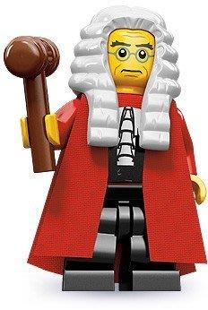 現貨【LEGO 樂高】積木/ Minifigures人偶系列: 9代人偶包抽抽樂 71000   # 10 法官+槌子