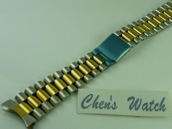 錶帶屋 ROLEX 勞力仕款替代 20mm 三珠18鍍k金(中間)不繡鋼錶帶兩邊兩珠實心 現貨商品