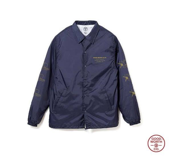 GOODFORIT / Good Worth Balloon Coaches Jacket復古畫報女郎教鍊夾克/S、M