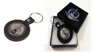 ☆ 唐尼樂器︵☆ FENDER 60週年紀念款真皮製金屬錢幣鑰匙圈