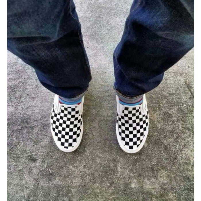 琳 Vans OG Classic Slip On 藍盒 米白 棋盤 格紋 黑白 懶人鞋 VN000UDFF8L 男女鞋