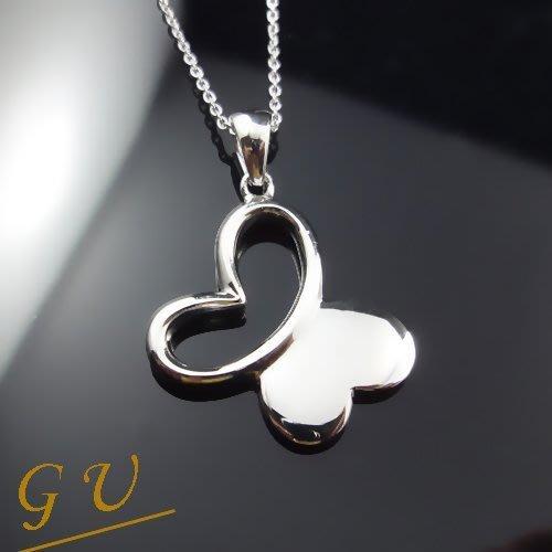【GU 】B24 女友 生日禮物925純銀飾品白金 可訂14K金鉑金  Asivers 蝴蝶銀吊墜 送銀項鍊 女鍊