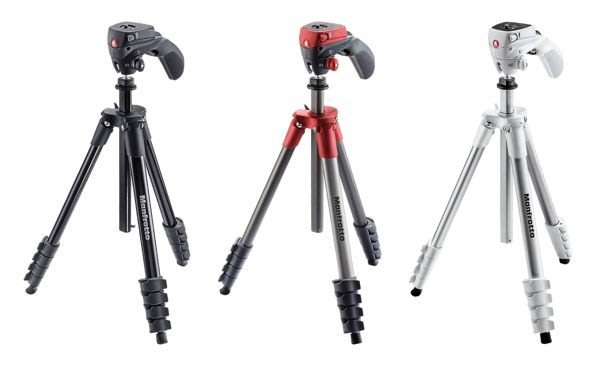 Manfrotto Compact Action・ 輕巧攝錄兩用腳架 MKCOMPACTACN 【正成公司貨】
