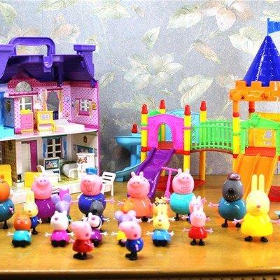 FuNFang_佩佩豬家家酒玩具套裝@紫色別墅遊樂場《#C004》