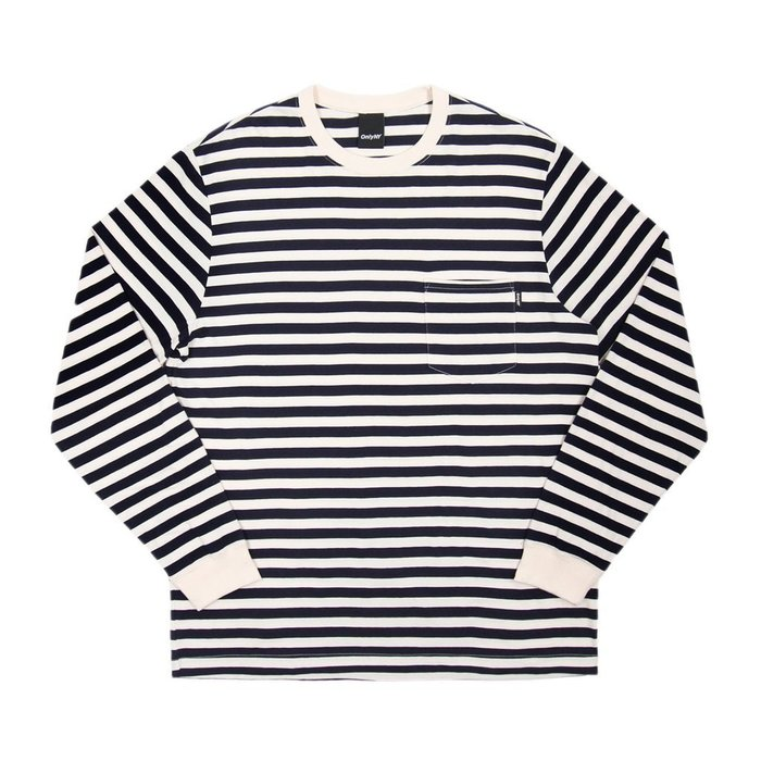 《Nightmare 》ONLY NY Nautical Stripe Pocket L/S T-Shirt