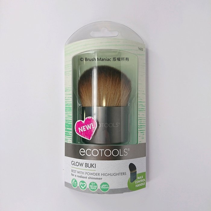 Brush Maniac - ecotools Glow Buki Powder Brush 大斜角打亮蜜粉兩用刷