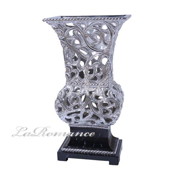 【芮洛蔓 La Romance】Samenly 系列歐式貴氣造型擺飾 / 花器 - 亮銀