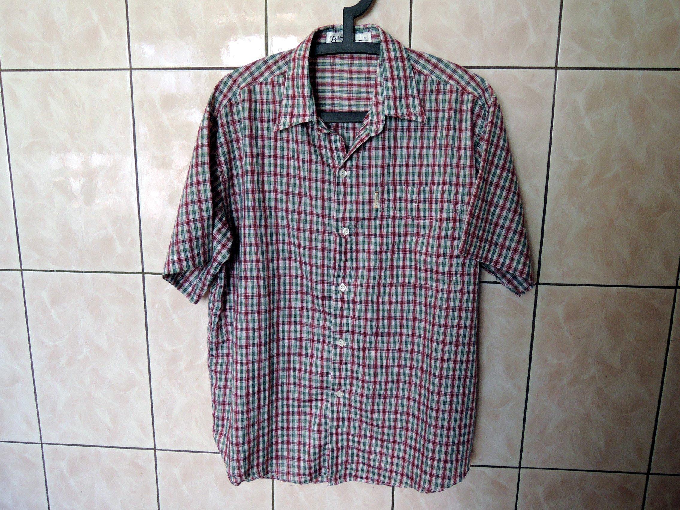 Boat Sea 短袖格子襯衫 L號 (Uniqlo LEVIS Zara AE A&F可參考)