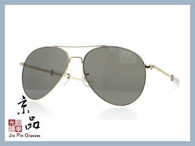 京品眼鏡 AO 美國 GN 將軍款 GN 58 G BA TC 金框/灰色玻璃太陽鏡片 58mm 公司貨 JPG