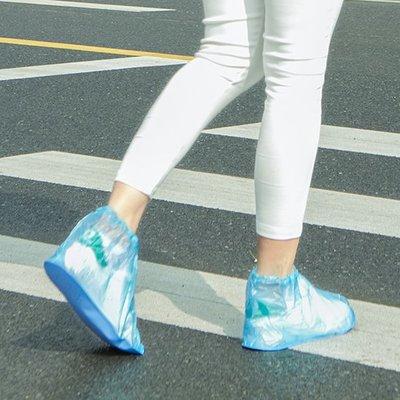 Color_me【Z123】加厚耐磨短版防水鞋套 雨天 防雨 防塵 防滑 水洗 重覆使用 便攜 機車 保護 男女適用 成