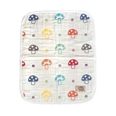 日本製 Hoppetta 六重紗 可愛蘑菇款 防踢被(S)