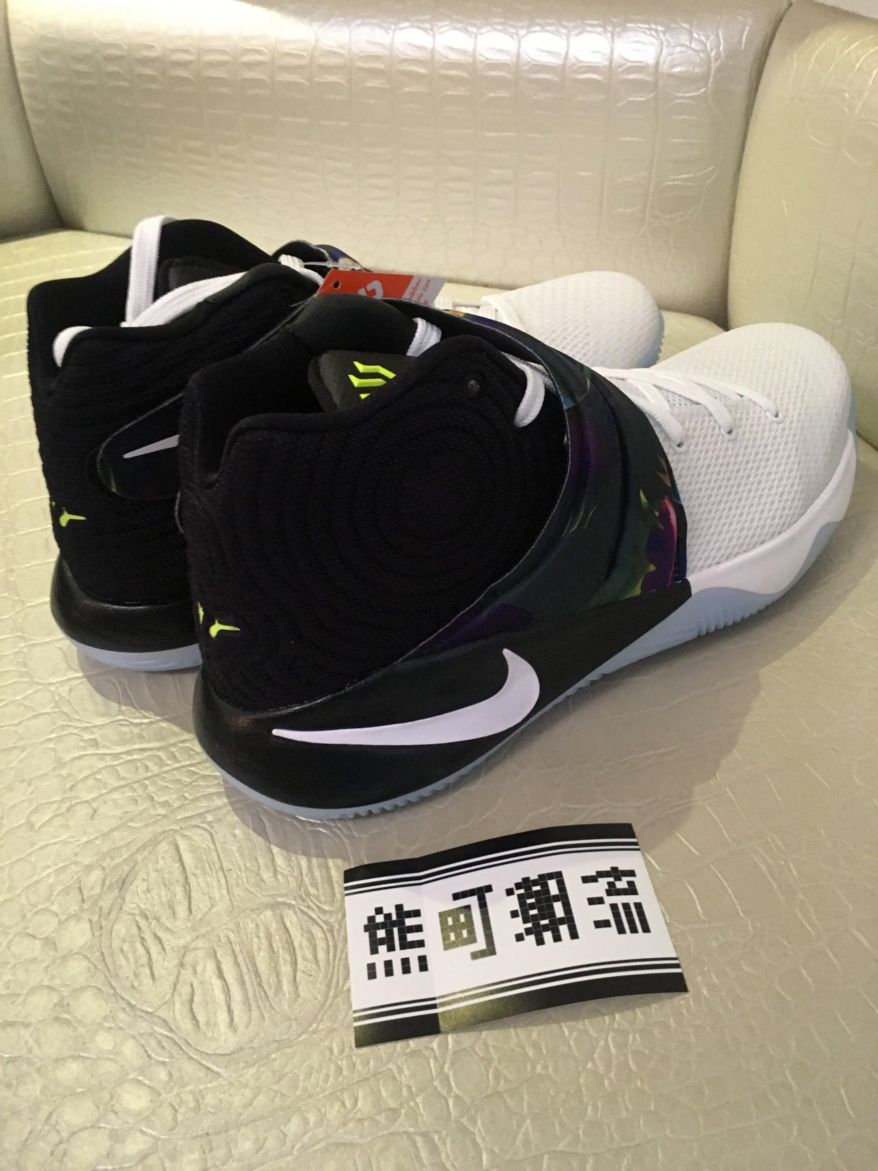 9.5 全新正品 NIKE KYRIE 2 EP Parade Irving 黑白 籃球鞋 水晶 820537-110