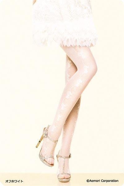 【拓拔月坊】日本品牌 Elizabeth 側花朵 層次感蕾絲 絲襪 日本製~現貨!