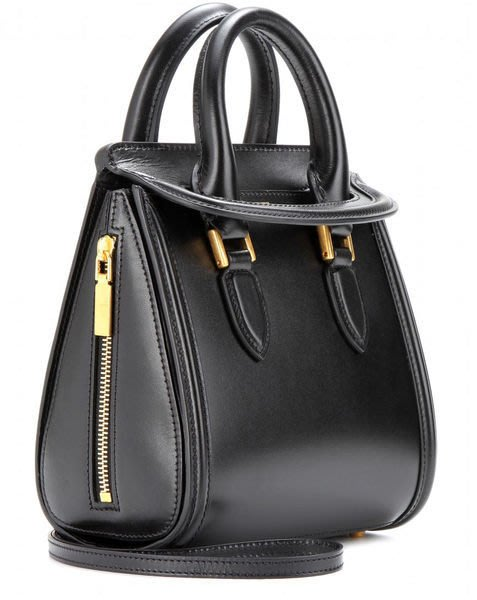 Alexander McQueen Mini Heroine Shoulder Bag 小型肩背包 黑