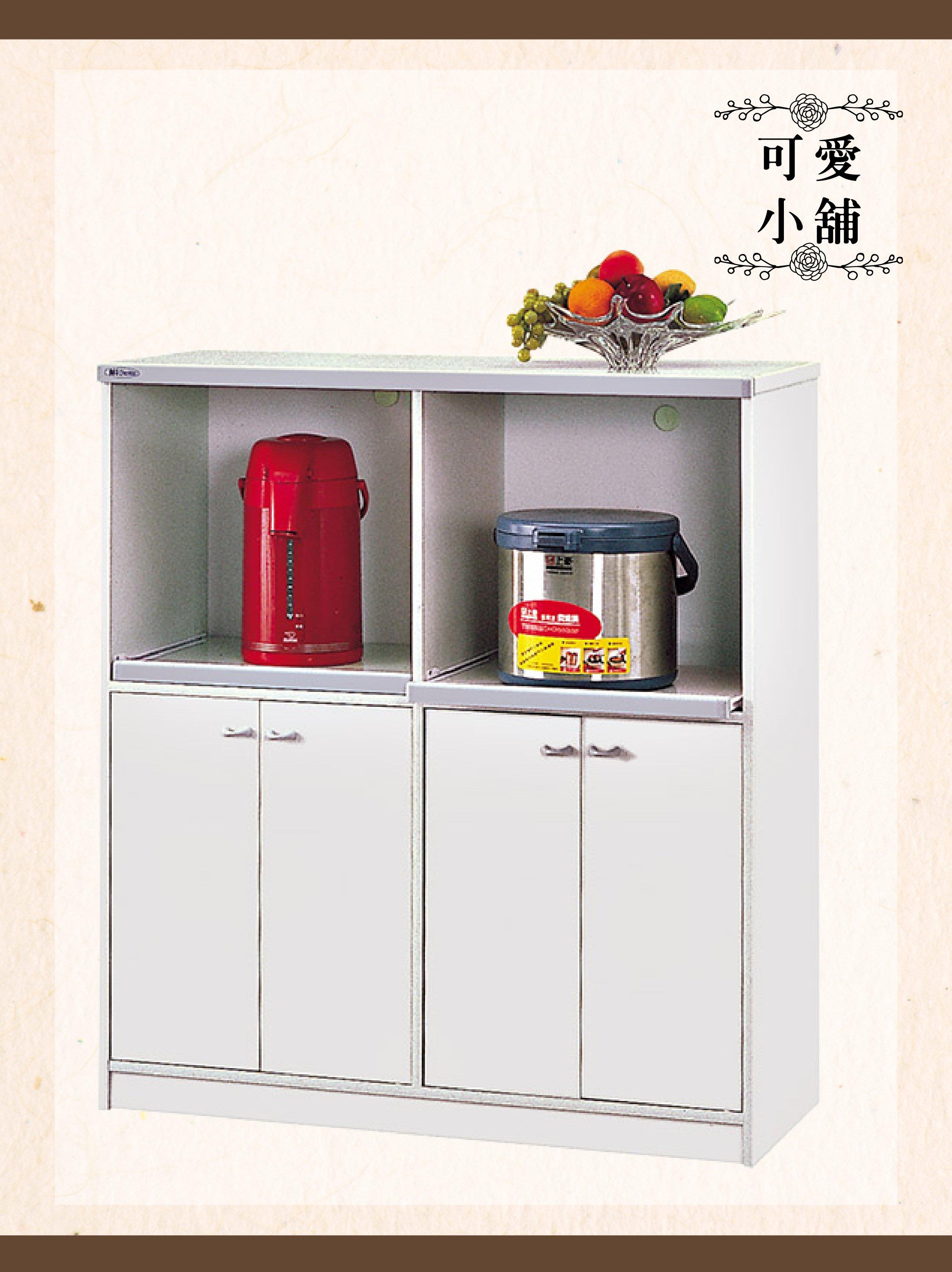 南亞塑鋼系列-H816電器櫃(灰) 四門兩格 雙色鋼櫃收納櫃置物櫃收納櫃櫃子儲藏 玄關客廳民宿辦公室【可愛小舖傢俱二館】
