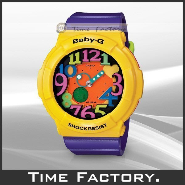 時間工廠 無息分期 CASIO BABY-G 炫彩霓虹LED腕錶 BGA-131-9B (BGA 131 9 B)