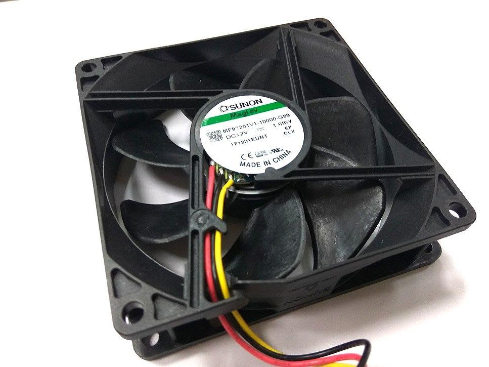 小白的生活工場*SUNON (MF92251V1-10000-G99)9公分磁浮架構風扇/3000RPM/34dBA