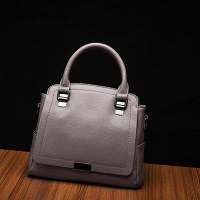 手提 包 真皮 肩背 包-簡約純色知性大方女包包4色73se17[獨家進口][米蘭精品]