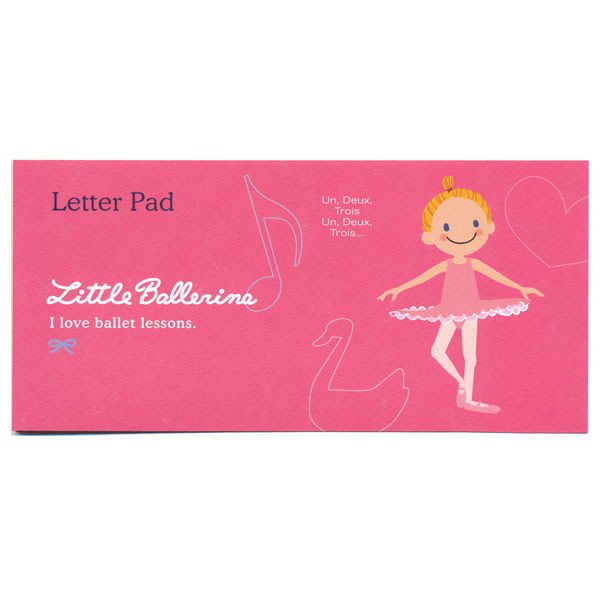 芭蕾小棧生日畢業表演禮物日本進口Little Ballerina可愛文具舞者小信紙本20頁入桃紅