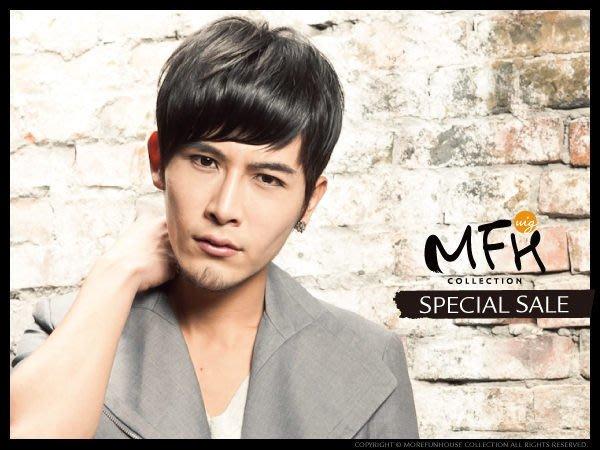 MFH韓國男生髮片─斜瀏海髮片【E049002】(包覆頭頂) 局部髮片 男髮片 造型髮 自然假髮