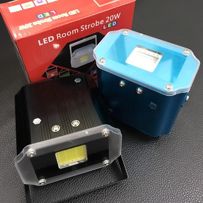 七彩LED聲控頻閃燈爆閃燈KTV包房燈酒店燈 派對燈 雷射燈閃光燈舞台燈光(20W)
