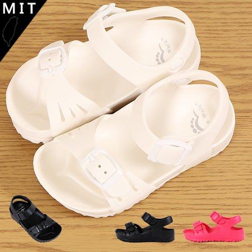 男女童 EVA防水防滑Q彈扣環 防水涼鞋 兒童涼鞋 平底涼鞋 Ovan