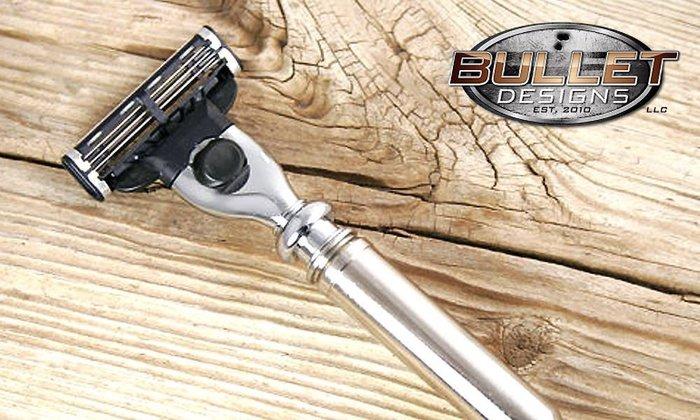GOODFORIT / 美國Bullet Designs 300 Magnum麥格農步槍子彈刮鬍刀具/Mach3