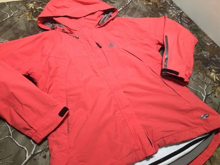 [Men's Paradise] 運動品牌 ADIDAS 女版 紅色 連帽 休閒 外套