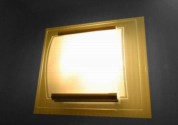 ~捷森照明~JA-S-00018~ 三   層  玻  璃  吸  壁  燈