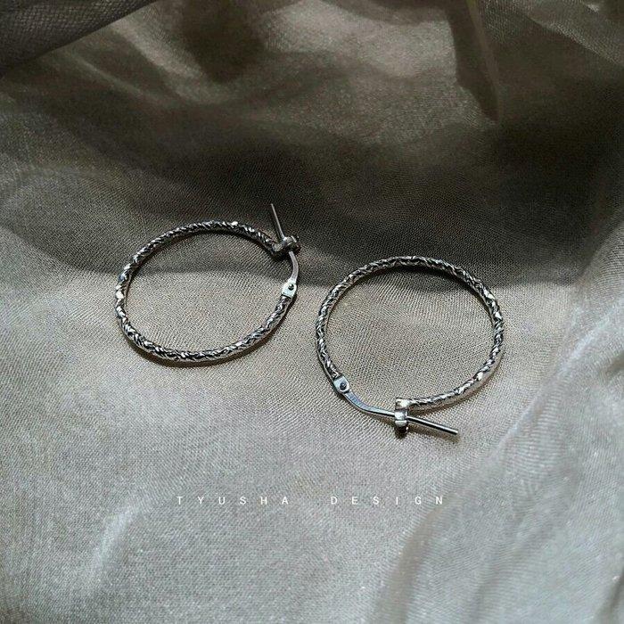 【熠熠◎純銀耳環】925純銀  進口意大利銀  純銀耳環 圈圈耳環  贈保養布 禮盒 一路向北