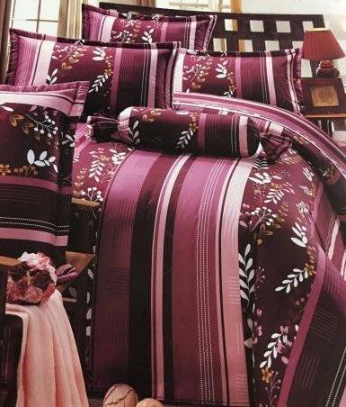 『非凡寢飾』☆*╮新品【紅葉】100%純棉.雙人特大五件式床罩組6*7--可訂制 台灣製