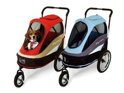 【阿肥寵物生活】ibiyayaFS980二代兩用寵物推/拖車-紅【免運】寵物推車/自行車/腳踏車