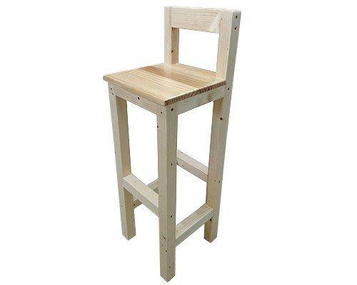 【森林原木手工家具】原木高腳椅
