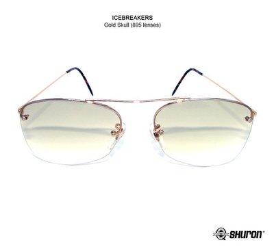 GOODFORIT / 美國百年SHURON ICEBREAKERS復古無框概念高彎性鏡樑最高舒適感鏡框/金、銀