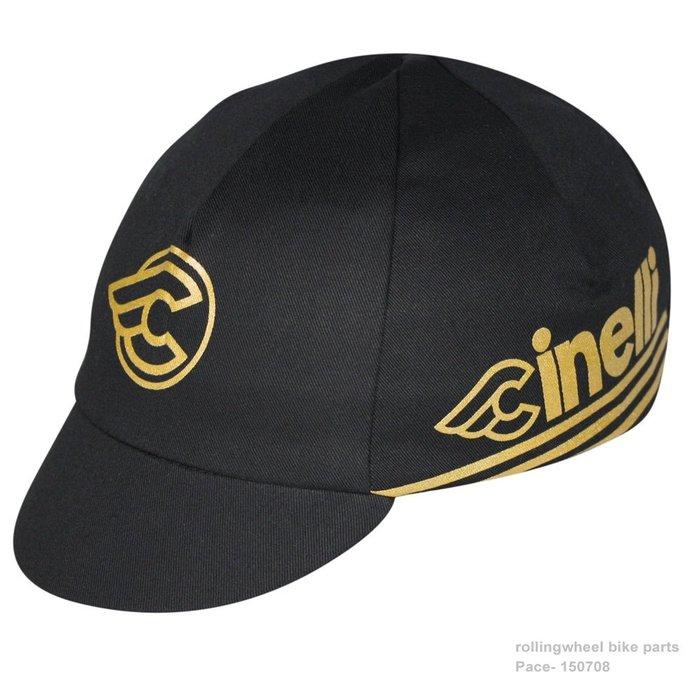 【行輪 PACE 】純棉 單車小帽 Cinelli Gold  公路帽 單速車 公路車 自行車小帽