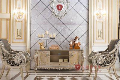 [紅蘋果傢俱] G312K 洛克思瑞 新古典 歐式奢華 電視櫃 TV 櫃子 收納櫃 玄關櫃 餐邊櫃