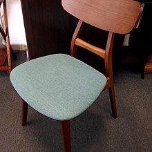 ~名佳利 館~羅莎柚木色實木餐椅 實木 噴漆處理 細麻布坐墊 日式餐椅 書桌椅 鏡台椅 房