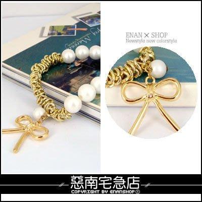 惡南宅急店【0129B】立體層次質感限定『珍珠混搭風手環』,vivi雜誌款。單條區