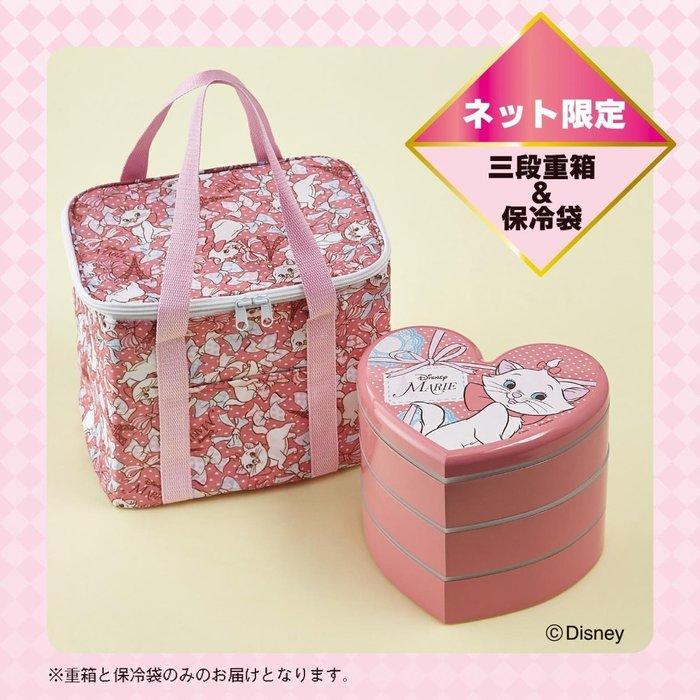 日版 Disney 迪士尼 瑪麗貓 三段重 運動會 lunch box 日式野餐盒 附保冷袋 提袋 LUCI日本代購