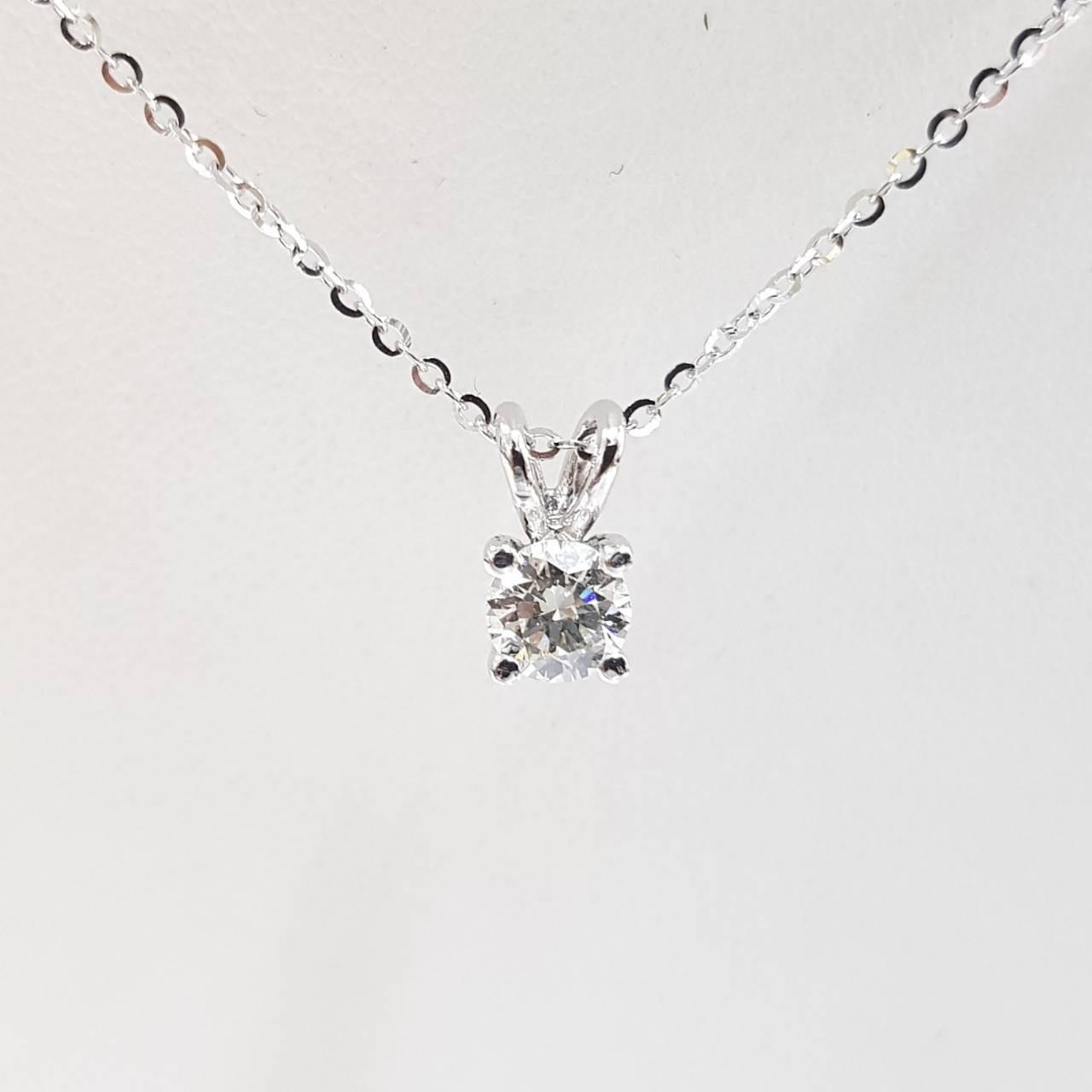 送禮禮物禮品 全新品 GIA鑽石項鍊 主石50分 3EX完美車工 750K金墜台 義大利項鍊 大眾當舖 編號3903