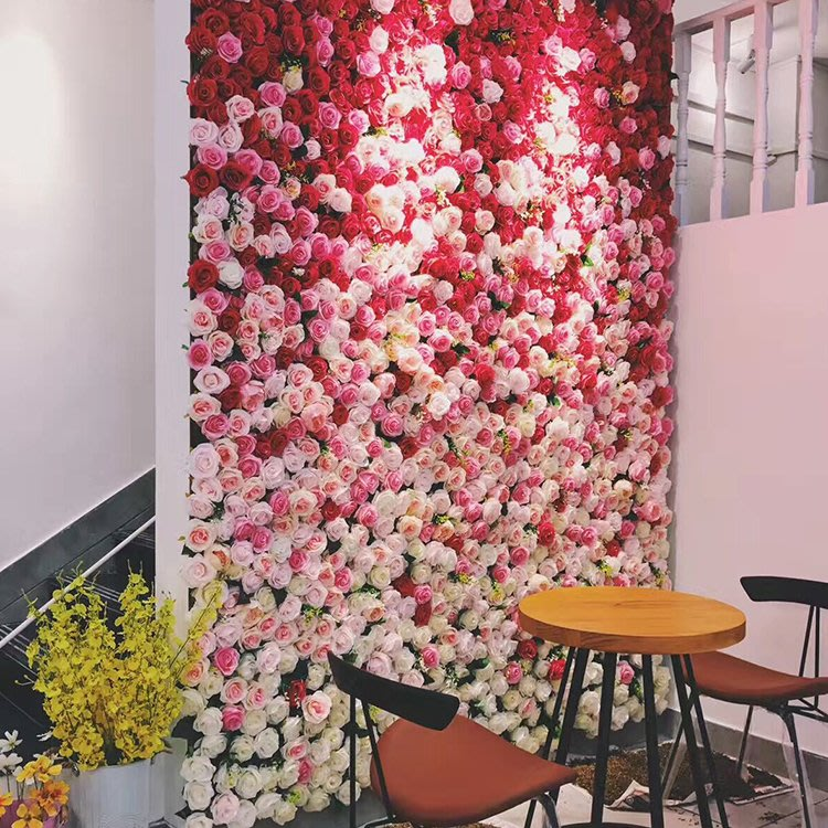 花牆 背板 人造花 仿真花 拍照 攝影背景 婚禮佈置 DIY 拼接 咖啡廳 新秘 假花 玫瑰 繡球花 植物牆 綠植 民宿