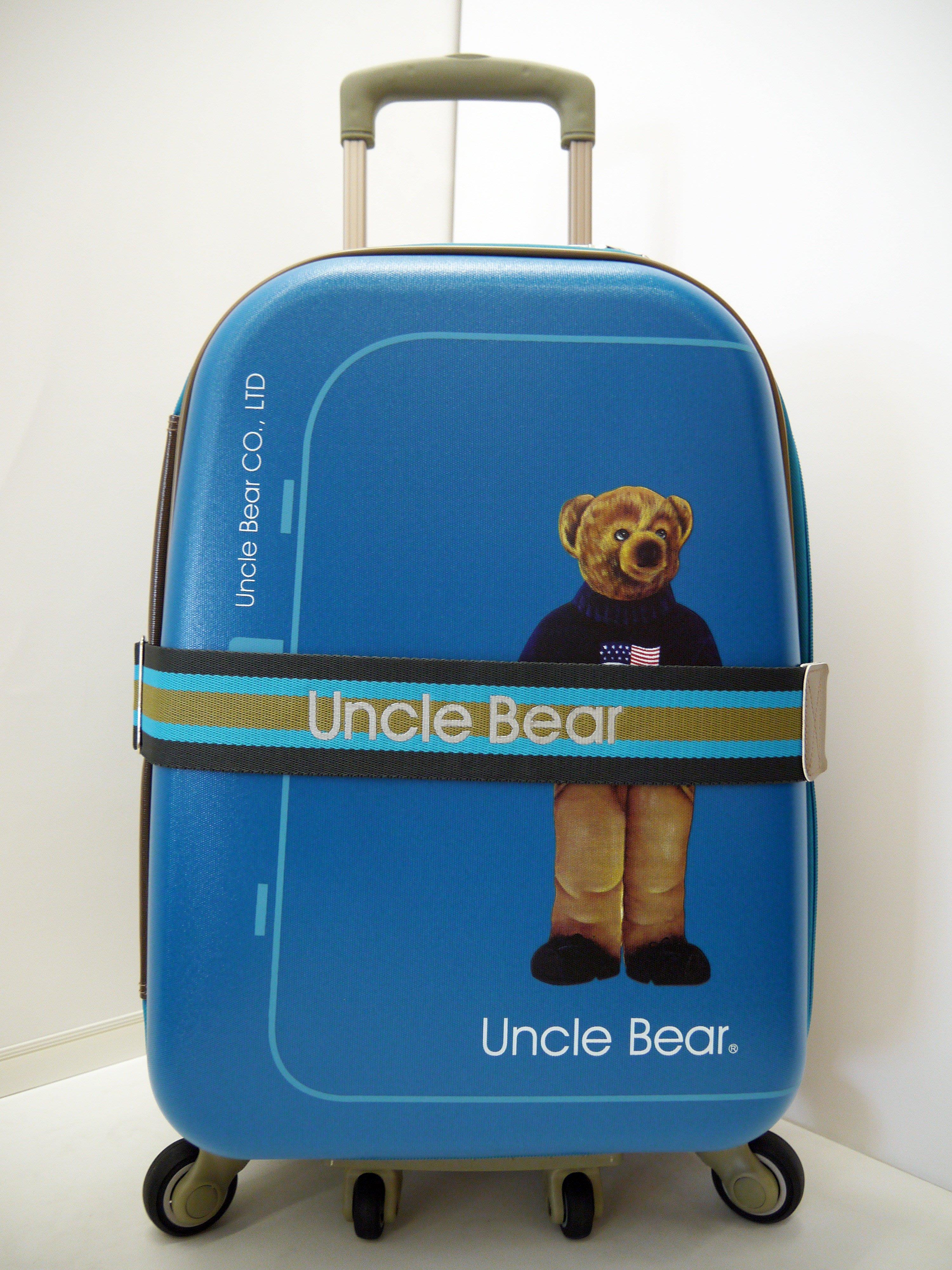 Uncle Bear 熊熊叔叔 旅行箱布箱/三段式鋁合金拉桿/可加大/附國際海關鎖/行李箱 25吋 薇娜