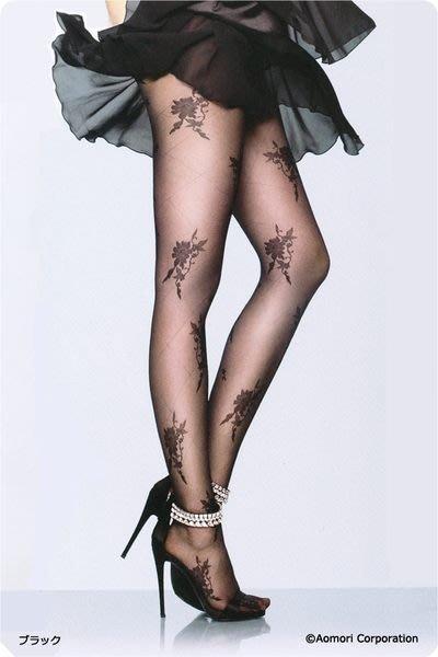 【拓拔月坊】日本品牌 Elizabeth 大菱格花朵柄 絲襪 日本製~現貨!