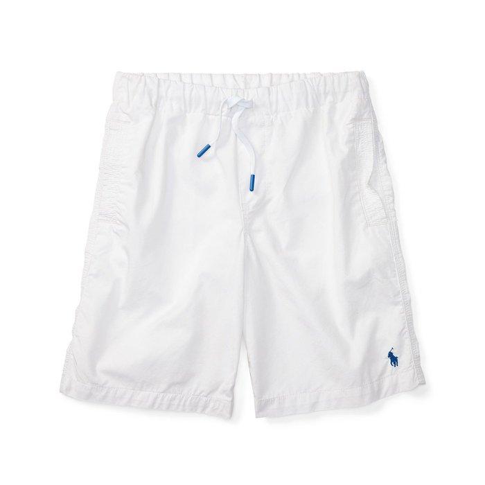 美國百分百【全新真品】Ralph Lauren 抽繩短褲 休閒褲 褲子 Polo RL 小馬 白色 男款 S號 I159