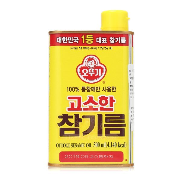 **幸福泉** 韓國【E470】不倒翁100%純芝麻油 500ml.特惠價$320