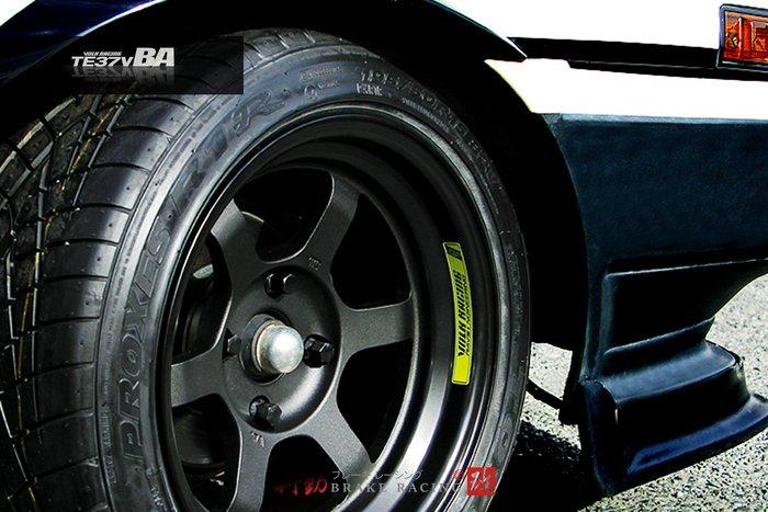 RAYS VOLK RACING TE37V BA 鍛造鋁圈 17吋4x100 4x114.3 / 歡迎詢問 / 制動改