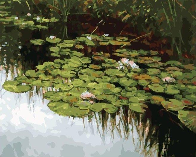 ArtLife藝術生活 DIY 彩繪 數字油畫 裝飾畫【DT129】莫內 蓮花池畔 40*50cm