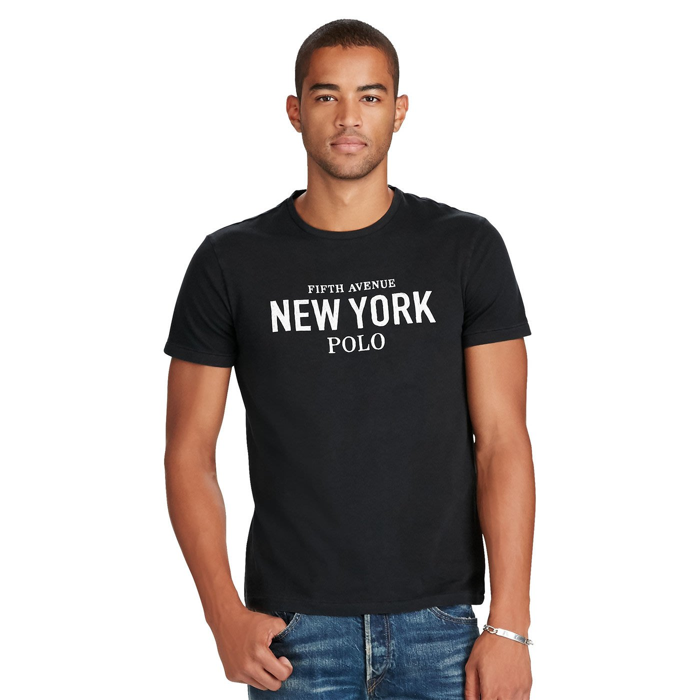 美國百分百【全新真品】Ralph Lauren T-shirt 短袖 T恤 RL 上衣 polo 紐約 黑色 H895