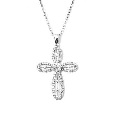 【JHT 金宏總珠寶/GIA鑽石專賣】0.42ct天然十字架鑽墜/材質:18K(D000004)